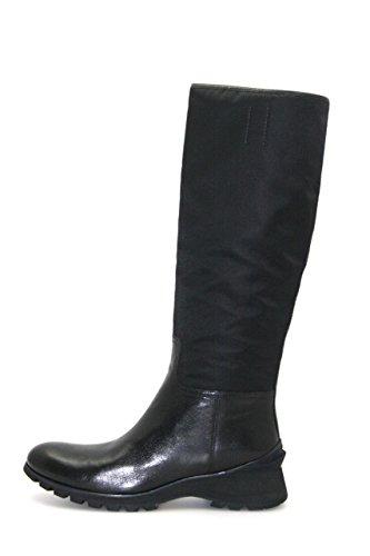 Prada Damen Schwarz Leder Stiefel 3W4941 40 EU