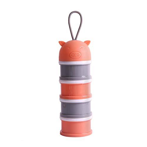 YMBH Melk Poeder Formule Dispenser,Twist-Lock Stapelbaar, Melk Poeder Doos Baby voedsel opslag Container Snack Cups voor peuters - BPA gratis, 4 Feeds O