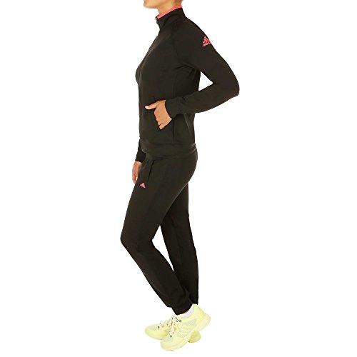 adidas Logo Suit Damen Trainingsanzug, Schwarz/Rosa S schwarz/rosa
