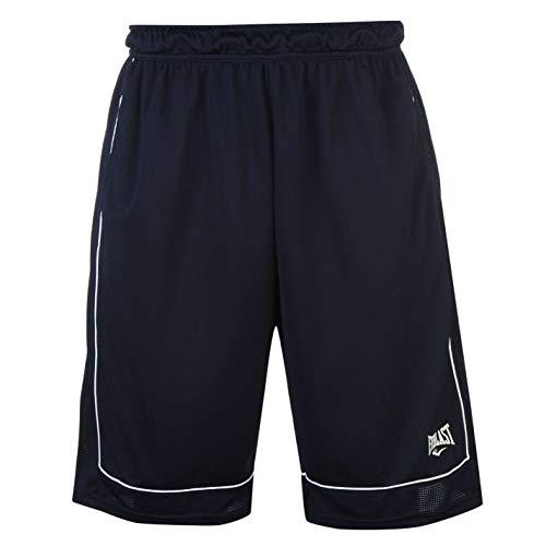 Everlast - Pantalones cortos de baloncesto para hombre, sueltos, ropa deportiva, Todo el año, Hombre, color azul marino, blanco, tamaño XL