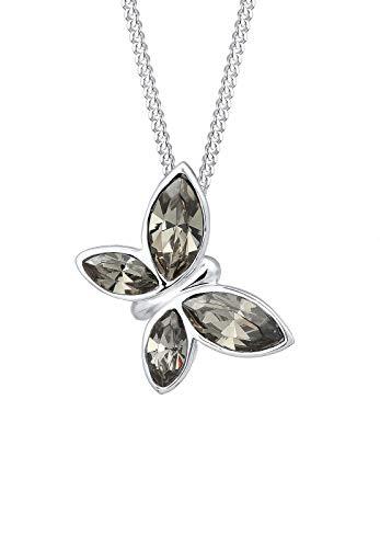 Elli PREMIUM Halskette Schmetterling Swarovski® Kristalle 925 Silber