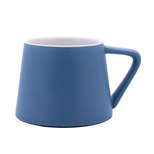 KOONNG Mugs Tasse De Café en Céramique Céramique Coupe Couple Coupe Bureau Tasse À Café Fleur Tasse Petite Coupe du Volcan - Bleu