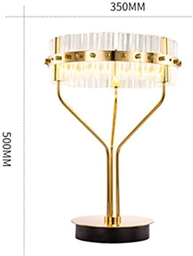 nakw88 Lámpara Escritorio Lámpara de Mesa de Cristal de Lujo LED Dormitorio Junto a la Cama Sala de Lectura decoración Sala de Estar Comedor Moderna lámpara cálida Simple 35 * 50 cm