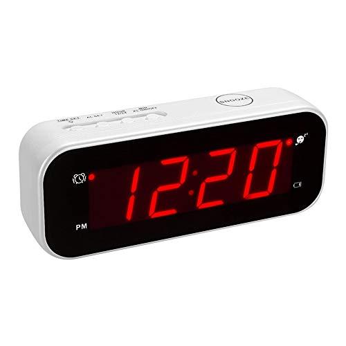 KWANWA - Sveglia digitale con funzione snooze, visualizzazione della temperatura, accanto...