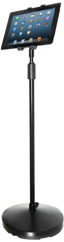 Kantek Tablet Floor Stand for Apple iPad, iPad Air, iPad Mini, Galaxy Tab (7-Inch or 9.7-Inch), Kindle Fire (7-Inch or HD 6) and most other 6 to 7-Inch or 9.7-Inch Tablets (TS890)