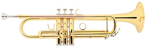 Classic Cantabile TR-30L Bb-Trompete (Schallbecher Messing 123 mm, Mundrohr Goldmessing, Monel-Ventile, Bohrung 11,65 mm)