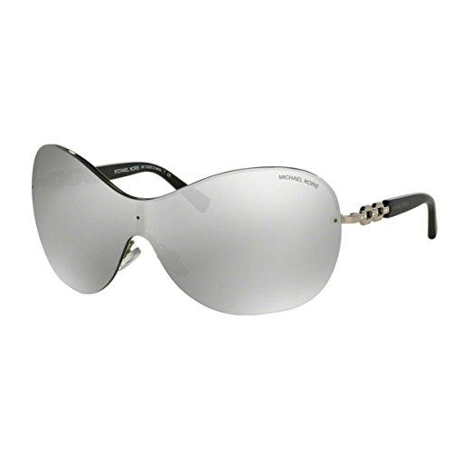 Michael Kors Damen Croatia MK1002B Sonnenbrille, Silber (silber verspiegelt 10016G), Small (Herstellergröße: 40)