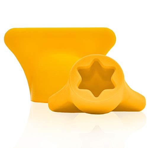 mix-slider - Teigblume für Thermomix, Teiglöser Zubehör für Vorwerk Küchenmaschine TM31 3D Gedruckt Made in Germany (Gelb)