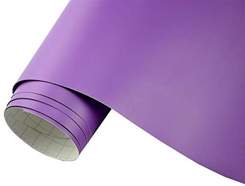 Neoxxim 5€/m2 Auto Folie matt - lila matt 100 x 150 cm Klebefolie Dekor Folie dehnbar auch für Möbel