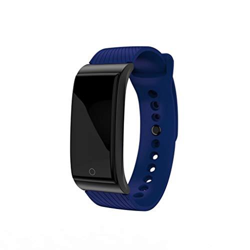LQIAN Smartwatch Fitness Armbanduhr Fitness Tracker für Frauen Männer Kinder 0,96 Zoll Farbtechnologie Sportuhr mit Schrittzähler Pulsmesser Wasserdicht zum Schwimmen Kompatibel mit iOS Android Handy