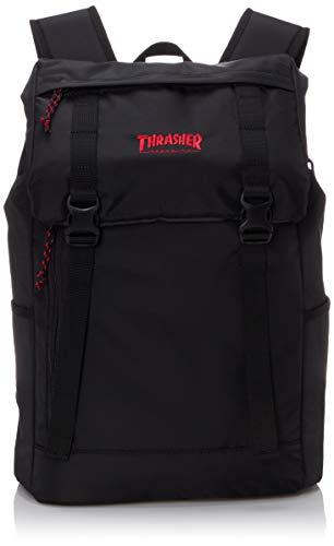 [スラッシャー] [ユニセックス] リュック 23L (コンパクト)[ THR-137 / Flap Backpack ] おしゃれ A4収納 BKRD_フラック・レッド