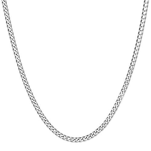 SoulCats® Set Halskette + Armband aus Edelstahl für Männer in Silber, Größe:3 mm, Kettenlänge ca. 55 cm