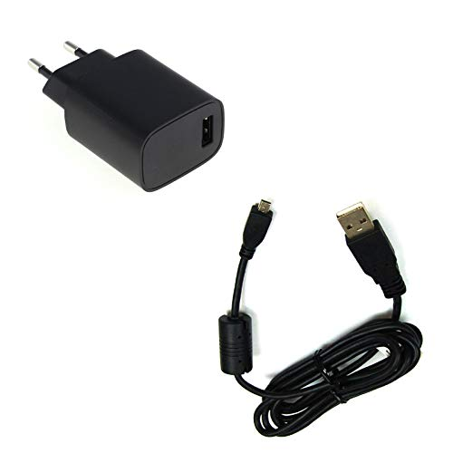 bg-akku24 Ladegerät & Ladekabel, Datenkabel, USB-Kabel für Panasonic Lumix DMC-TZ25, DMC-TZ31, DMC-TZ35, DMC-TZ36, DMC-TZ41, DMC-TZ56, DMC-TZ57, DMC-TZ58, DMC-TZ60, DMC-TZ61, DMC-TZ70, DMC-TZ71
