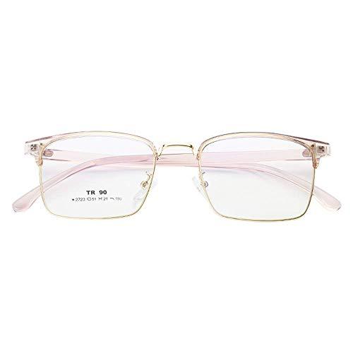 KoKoBin Ultraleichte TR90 Retro klassische Brille ohne Sehstärke Dekorative Brille mit transparente Linsen für Damen und Herren braun