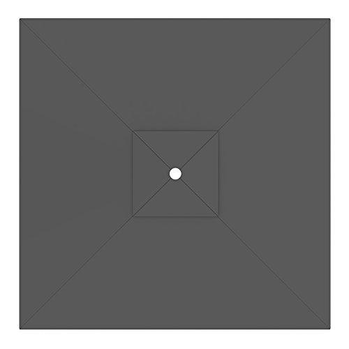 paramondo Telo di ricambio incl. Air Vent per Ombrellone da giardino Interpara (3 x 3 m/quadrato), grigio