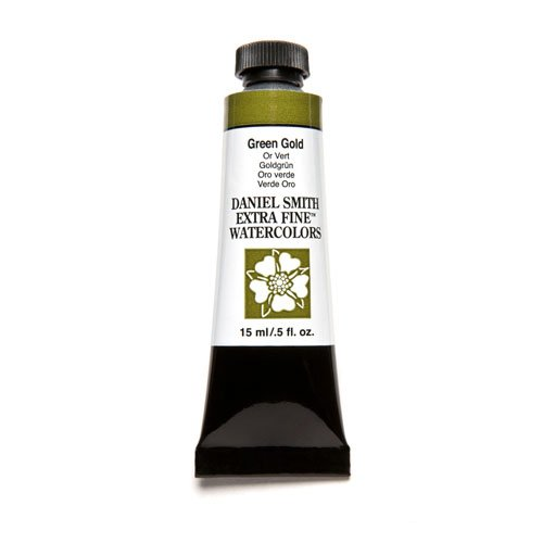 DANIEL SMITH, Green Gold Extra Fine Watercolor 15ml Paint Tube, 15 ml