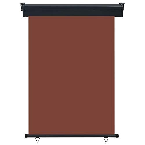 Tidyard Balkon-Seitenmarkise Markise Außenrollo Balkonrollo 60 × 250 cm Schwarz für Balkon und Terrasse