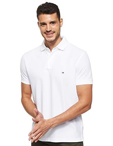 Tommy Hilfiger Herren CORE Hilfiger Regular Polo Poloshirt, Weiß (Bright White 100), Medium