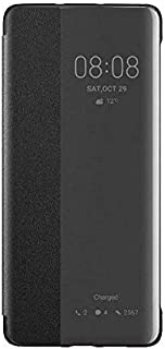 For Huawei Genuine P30 Pro Smart View Flip Cover Wallet with Sleep Wake Feature - Black