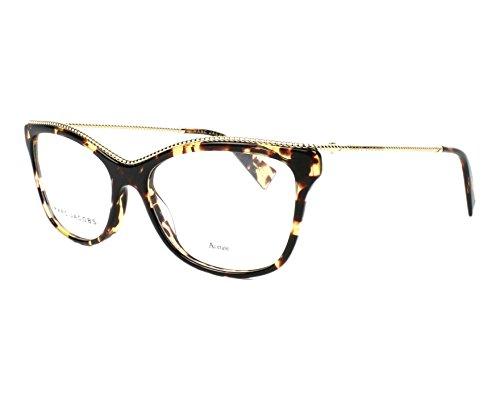 Marc Jacobs Plastic Rectangular Eyeglasses 55 0086 Dark Havana