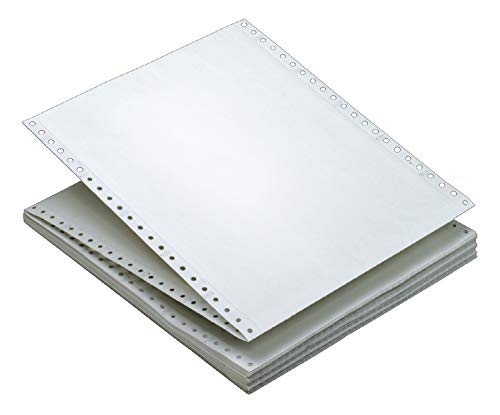 TOPS Continuous Computer Paper, 2-Part Carbonless, Removable 0.5 Inch Margins, 9.5 x 11 Inches, 1650 Sheets, White (5516)