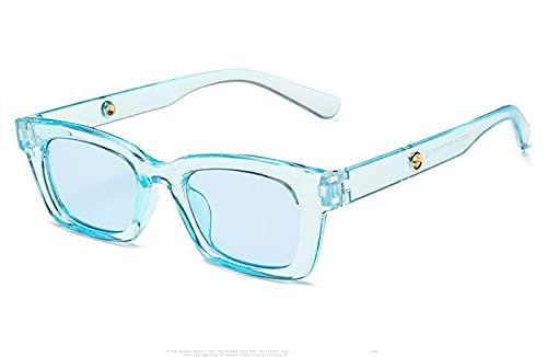 LOPIXUO Gafas de sol Nuevas gafas de sol rectangulares Vintage para mujer, con puntos retro, gafas de sol verdes transparentes, gafas de mujer para mujer, ojo de gato, como en la imagen