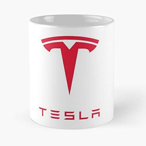 5TheWay Mug Tesla Logo Standardkaffee 11 Unzen Geschenk Tassen für alle