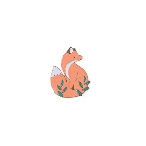 Yesiidor Fox Shape Enamel Brooch Pin Lovely Cartoon Animal Fashion Exquisite Clothes Bags Backpacks Lapel Pin Party Accessory Jewelry Gift