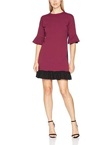 Trucco - Vestido casual para mujer, color rojo oscuro