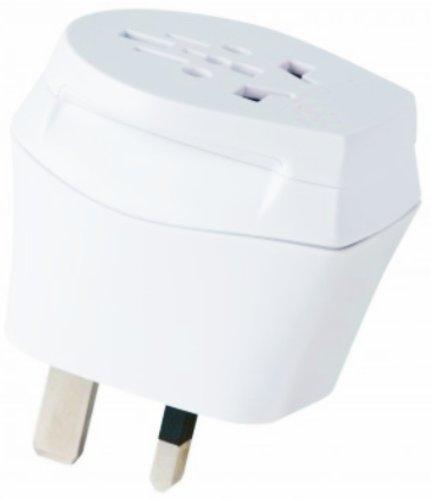 2 x Reiseadapter - Welt Kombi Reisestecker Stromadapter SET - Adapter für Deutschland auf Mauritius für Steckdosen mit Schukostecker, Euro, 2 pol und 3 polige Strom Netz Stecker - DE-MU ( Travel Plug Adapter Germany to Mauritius )