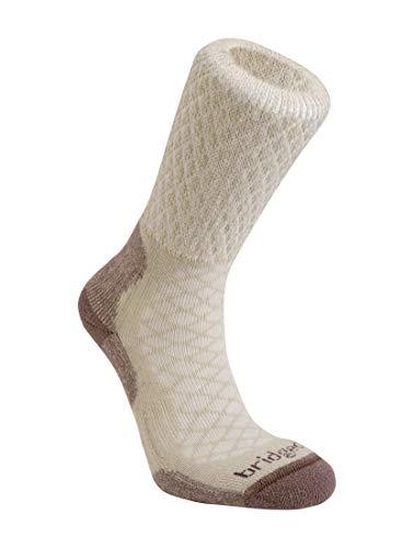 Bridgedale Leichte Damen-Socken aus Merinowolle, Größe L, sandfarben
