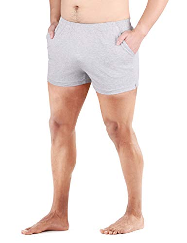 """Muscle Alive Men's Running Shorts with Pockets 3"""" Inseam Cotton Lounge Short Bottoms"""