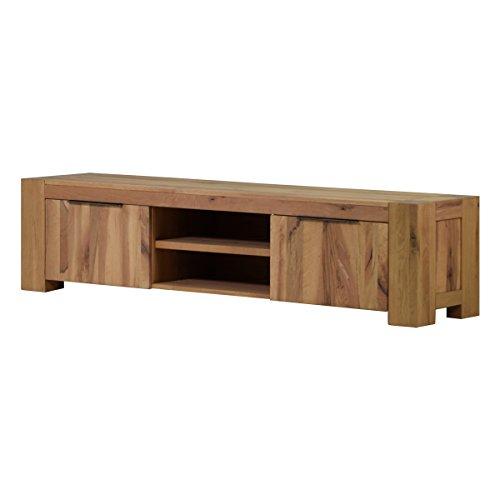 MÖBEL IDEAL TV Lowboard Fernsehschrank Unterschrank Granby 210 cm Massivholz Holz Eiche massiv Balkeneiche Natural Breite 210 cm Tiefe 48 cm Höhe 50 cm
