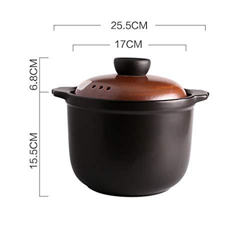 WY- Pots Faitout rétro Grande capacité marmite cuisinière à gaz Domestique cocotte en céramique 3,5 litres - Couleur C