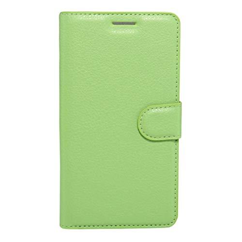 Yukiki For Huawei Disfrute de 6 tirón la Caja de Cuero Horizontal de la Textura del lichí con el Soporte y Las Ranuras for Tarjeta y Monedero (Negro) (Color : Green)