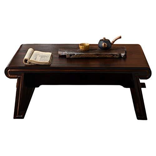 Tables Balcon Baie Vitrée Maison en Bois Massif Petite Simple À Thé Basse Tatami Basse Salon Brun Petite Basse Fait Main Basses