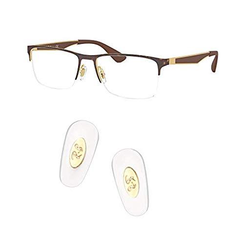ceydeyjp ray ban 交換用ノーズパッドを押し込んで、レイバンRB6335サングラスレンズキット付きサングラス修理キットに適合 (ゴールド)