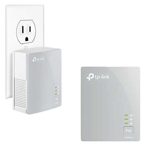 TP-LINK TL-PA4010KIT AV600 Nano Powerline Adapter Starter Kit, up to 500Mbps(Renewed)