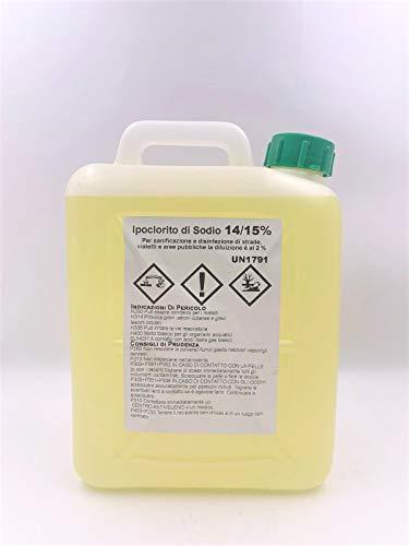 Tanica da 5 litri di Ipoclorito di sodio diluizione 14/15% disinfettante sanificante detergente sbiancante