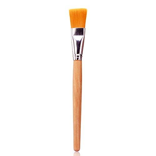 1 pc Facial Masque Brosse Poignée En Bois Fiber De Cheveux Fondation de Cheveux Brosse Beauté Cosmétique Outil