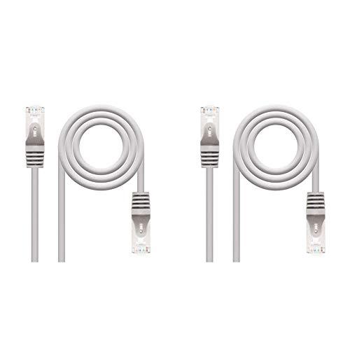 NanoCable 10.20.0820 Cable de red Ethernet RJ45 Cat.6 FTP AWG24, 100% cobre, Gris, latiguillo de 20mts + 10.20.0815 Cable de red Ethernet RJ45 Cat.6 FTP AWG24, 100% cobre