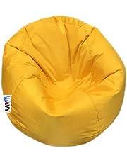 Wavy Waterproof Beanbag Chair 90X70 cm, Yellow - Mcw193