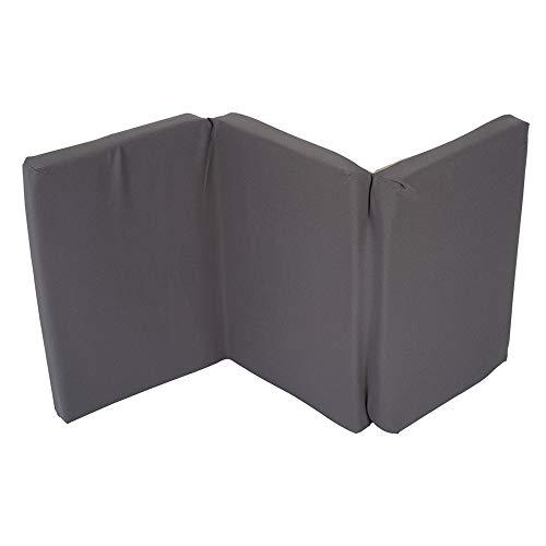 Nattou Matelas épais pour lit parapluie, Pliable, Épaisseur 5 cm, Avec housse de transport, 120 x 60 x 5 cm, Gris