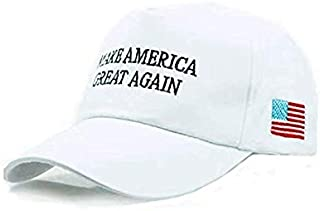 CARAVAN Trump 2020 Hat, Keep America Great Again 3D Embroidery Adjustable Baseball Hat with USA Flag for Men Women