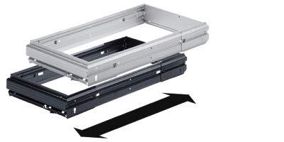 Stufenlos breitenverstellbarer Hängeregistratur-Rahmen, schwarz, 1032-1204