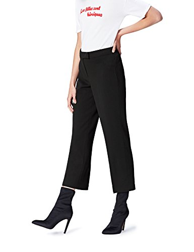 Marchio Amazon - find. Pantalone Dritto alla Caviglia Donna, Nero (Black), 48, Label: XL