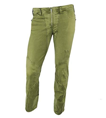 Jeanstrack Tardor Pantalón de Escalada-Trekking, Mujer, Verde, S