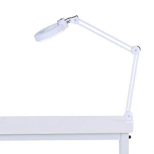 lyrlody- 5 lámparas LED de aumento con luz fría, lámpara de belleza, cosmética, lámpara de trabajo con lupa con brazo giratorio para leer de Medical Beauty