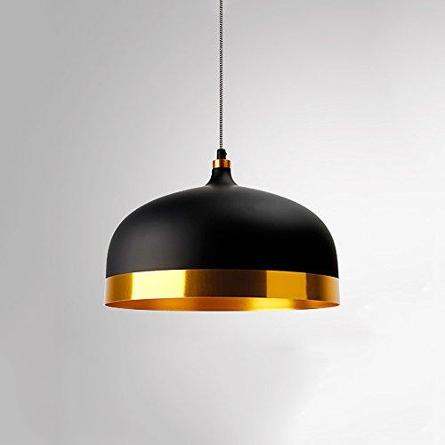 Ganeep Mode Kreative Aluminium Pendelleuchten Nordic Moderne Minimalismus Hängende Lichter Retro Wohnzimmer Esszimmer Bar Schlafzimmer Nachttischlampen Dekorative (Color : Black)