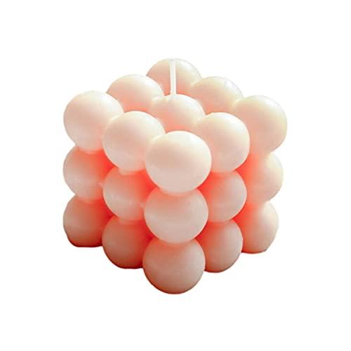 biteatey Vela Cubo 3D, Vela De Burbujas, Cera Vegetal Veg Ana, Vela Hecha A Mano, Cera Pura De Soja, Regalos para Adornos del Hogar, Decoración Sin Humo, Decoración De Habitación, Oficina, Guardería